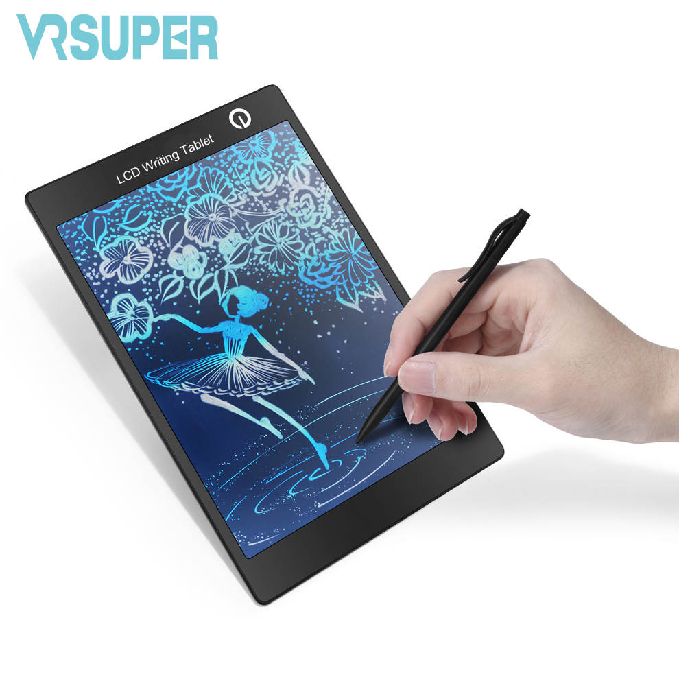 buy 9 7 portable colorful lcd writing drawing board tablet pad notepad. Black Bedroom Furniture Sets. Home Design Ideas
