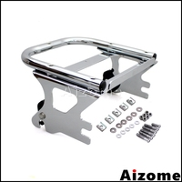 Chrome Motorcycle Two up Detachable Mount Luggage Rack For Harley Road King Road Electra Glide Standard Street Glide 1998 2008