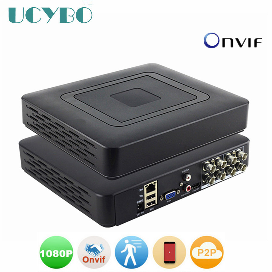 CCTV Security Mini DVR NVR 4CH 8 Channel 1080N AHDNH AHD DVR network video recorder Onvif NVR For 1080P 720P Ahd ip camera цена 2017