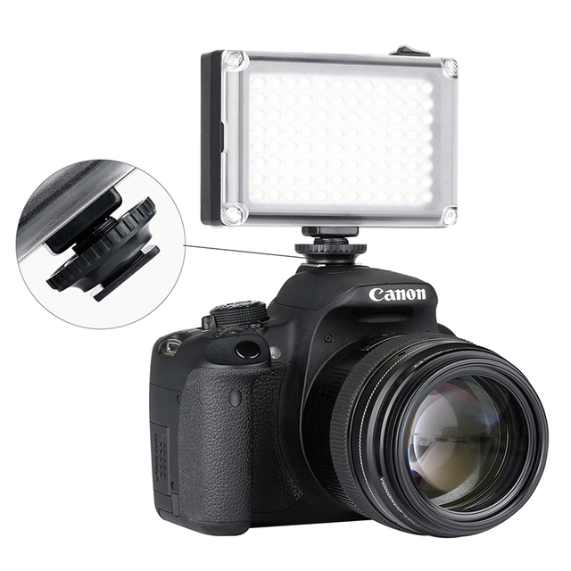 Hot Shoe LED Video Light with Filters