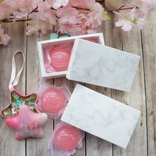 high quality 14*7*5cm 10pcs marble design Storage Boxes chocolate Paper Box wedding party cookie candy Macarons Snacks Packing