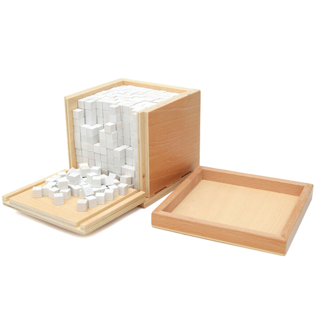 Professional Montessori Material Math Toy 1000 Cube Kindergarten Early Learning mathematics cube toy