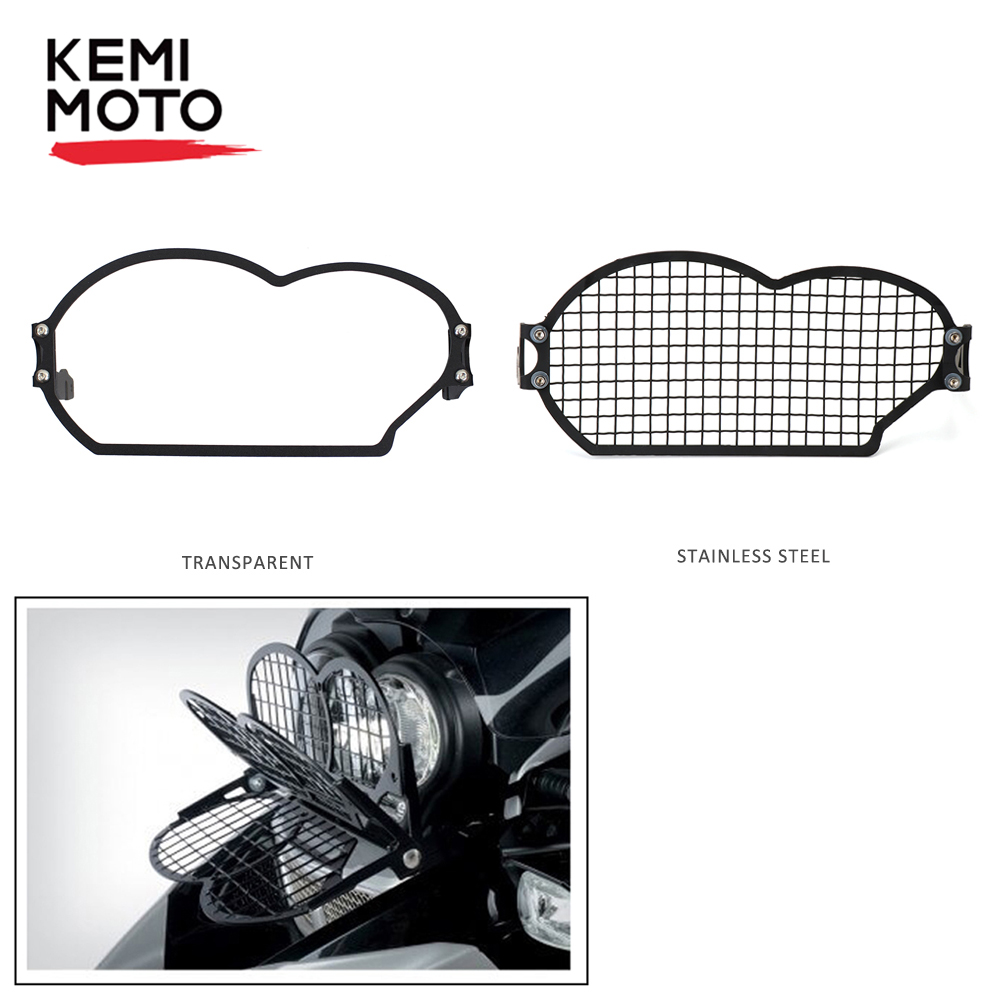 KEMiMOTO for <font><b>BMW</b></font> R <font><b>1200</b></font> <font><b>GS</b></font> 2006 <font><b>2007</b></font> 2008 2009 2010 2011 2012 Stainless steel Headlight Protector Guard Headlight Grill Cover image