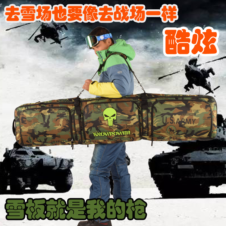 Genteel 146-166cm Snowboard Bag / Skis Bag Clothing All Stuff Bag / Backpack Crossbody Belt Padded Thick Cushion Camouflage A5112 Without Return