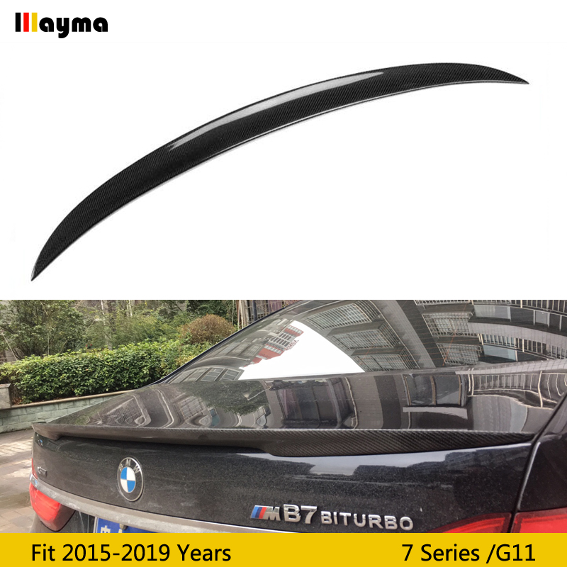 Performance style  Carbon Fiber rear trunk spoiler For BMW 7 Series 730i 740i 750i M760i 2015-2019 year G11 P Style spoiler WingPerformance style  Carbon Fiber rear trunk spoiler For BMW 7 Series 730i 740i 750i M760i 2015-2019 year G11 P Style spoiler Wing
