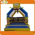 Selva inflável jumper bouncer com slide, castelo inflável, ligação em ponte inflável bouncer, insufláveis bouncer comercial