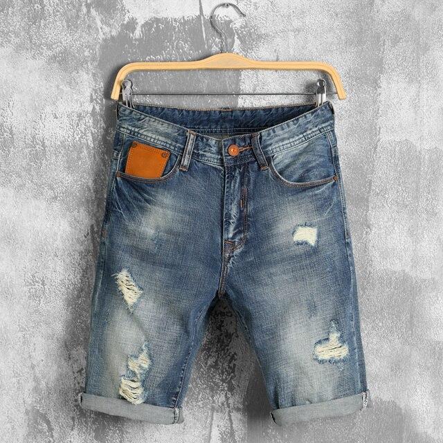 2016 Shorts Men Fashion Casual Mens Jean Shorts Cotton Straight ...