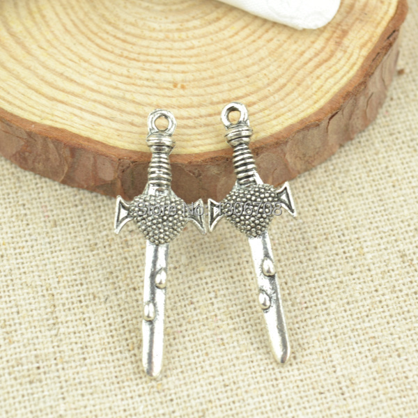 Realistic Hot 50pcs For Necklace&bracelets Making For Metal Charms Tibetan Silver Sword Pendants Jewelry Findings And Components 3026 Jewelry Sets & More Jewelry & Accessories