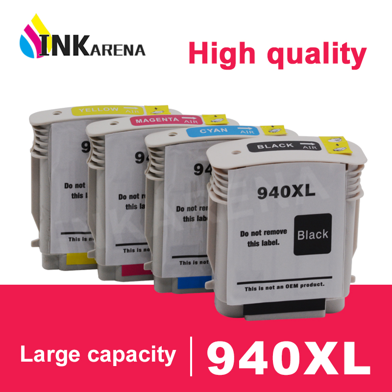 INKARENA Replacement for HP 940 XL Refilled Ink Cartridge For HP940 <font><b>940XL</b></font> Officejet Pro 8000 8500 8500a A809a A909 A910a Printer image