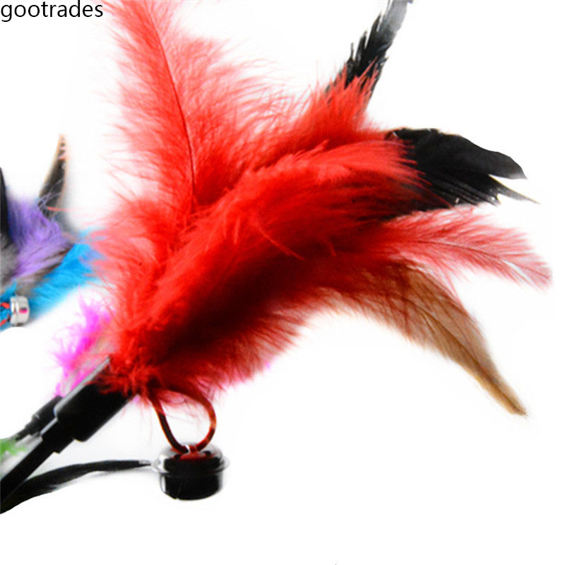 1Pcs Fashion Cats Play Feather Small Type Cats Toy 65cm Ultra long Rod Pets Toy