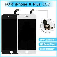Melhor qualidade de Vidro Touch Screen Substituição Assembléia LCD Digitador Para iphone 6 P 6 mais preto e branco cor 8 pcs para tianma