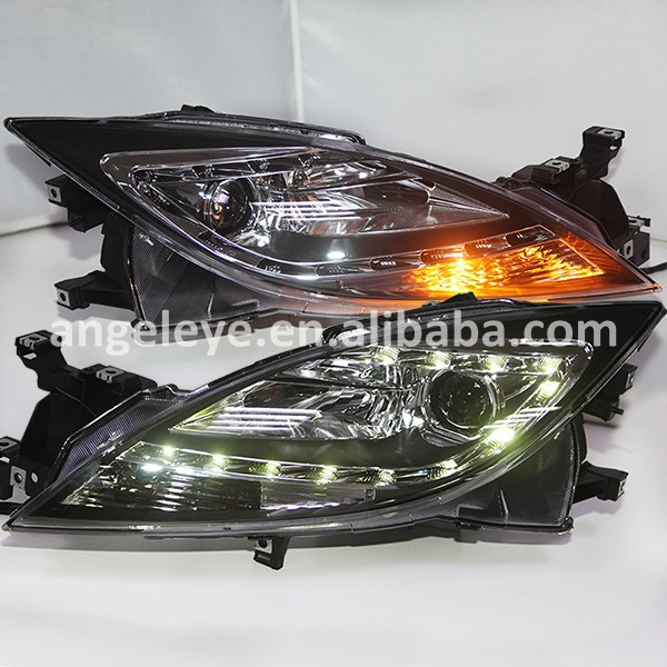For Mazda 6 Core Wing LED Head Lights With Bi Xenon Projector Lens 2008 2012 Year-in Car Light