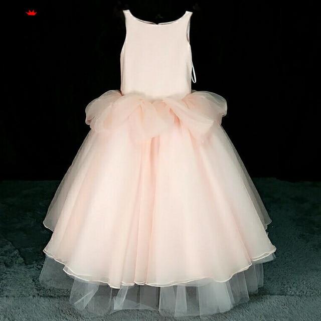 SoAyle 2018 Ball Gown Pink Flower Girl Dresses Long Floor Length ...
