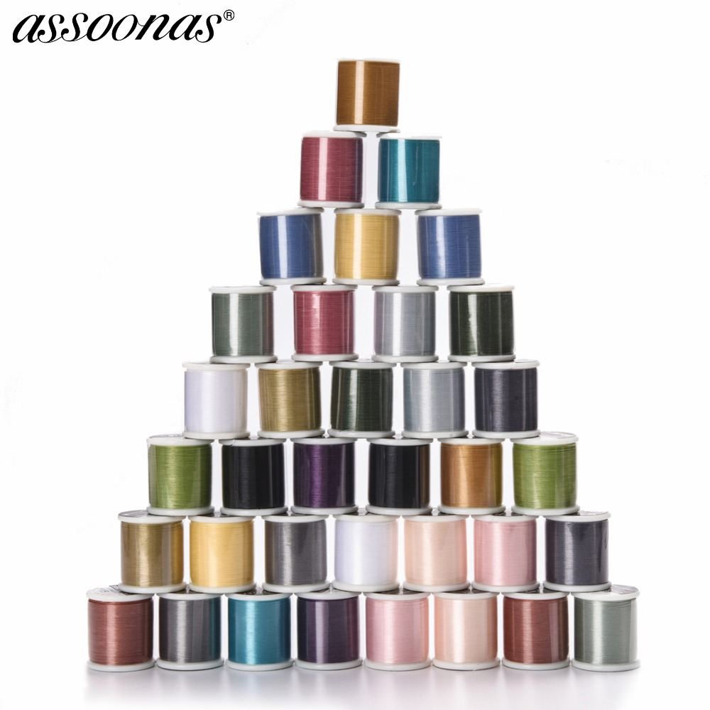 Assoonas M91,2.6CM,MIYUKI Beading Thread,DIY Making,jewelry Accessories,bracelet Accessories,50m/roll