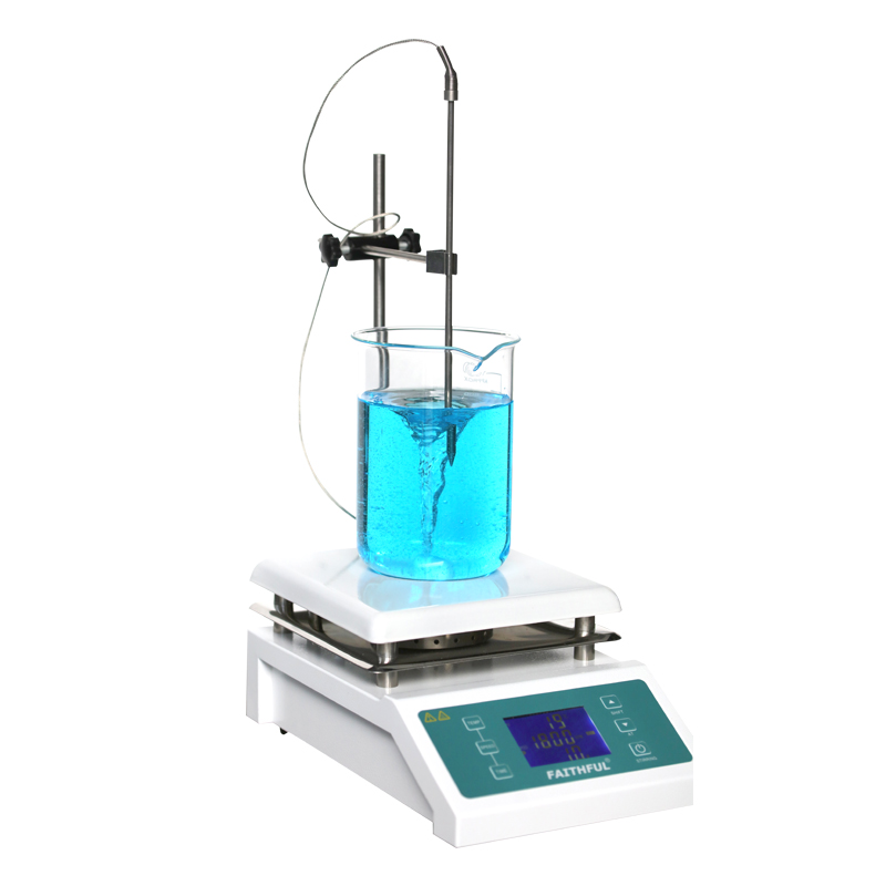 SH-II-4C Laboratory Magnetic Stirrer with Heating Hotplate Blender mixer Temperature LCD Digital Control Display sh ii 6 laboratory electric overhead stirrer stir plate agitator blender mixer