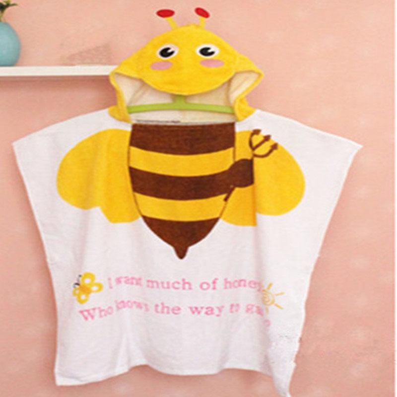 Wholesale Cotton Animal Printed Pattern Kid Bath Hooded Towel Cartoon Cloak Beach Towels Drop Shipping Toaha De Banho Para BeBeX