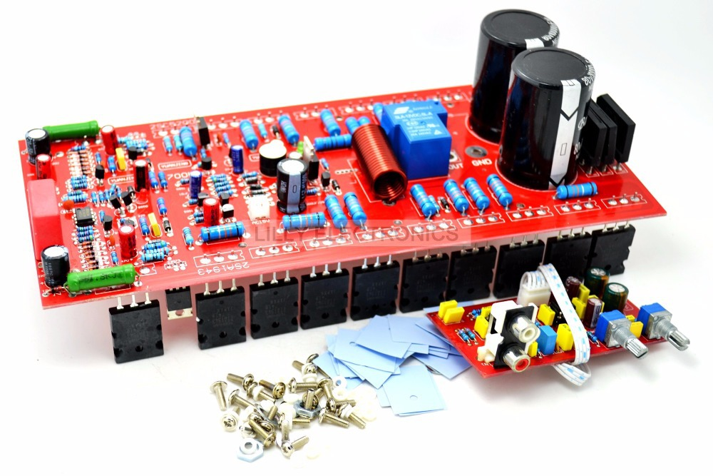 YJ 700W SUB Mono Amplifier Board 1943/5200 New without Heatsink free shipping assembled 1943 5200 2 1 amplifier board 80w 80 w 100 w without six 10000uf capacitance