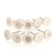 10 قطعة صوف دوار لتلميع عجلة التلميع مطحنة حفر صغيرة للخشب وسادة تلميع معدنية أدوات تلميع