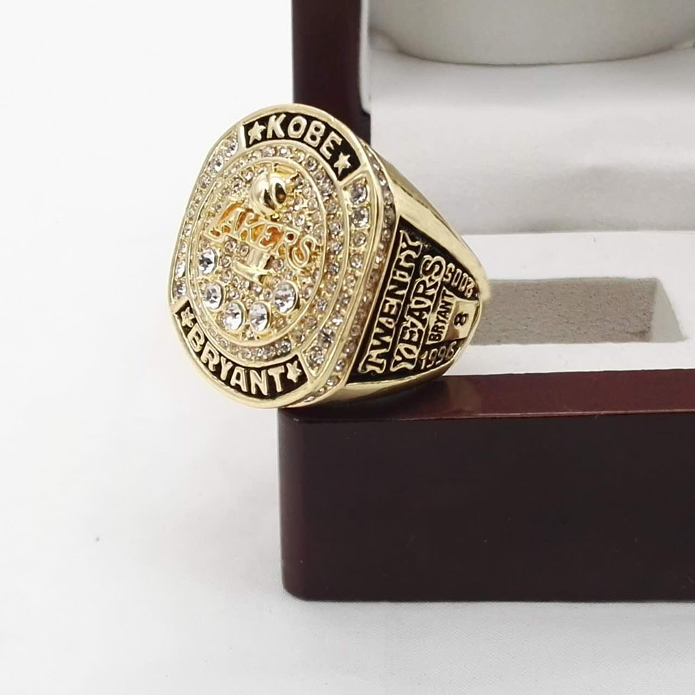 Who Can Beat Our Rings High Quality 2016 Kobe Bryant with Retirement Ring twenty years black
