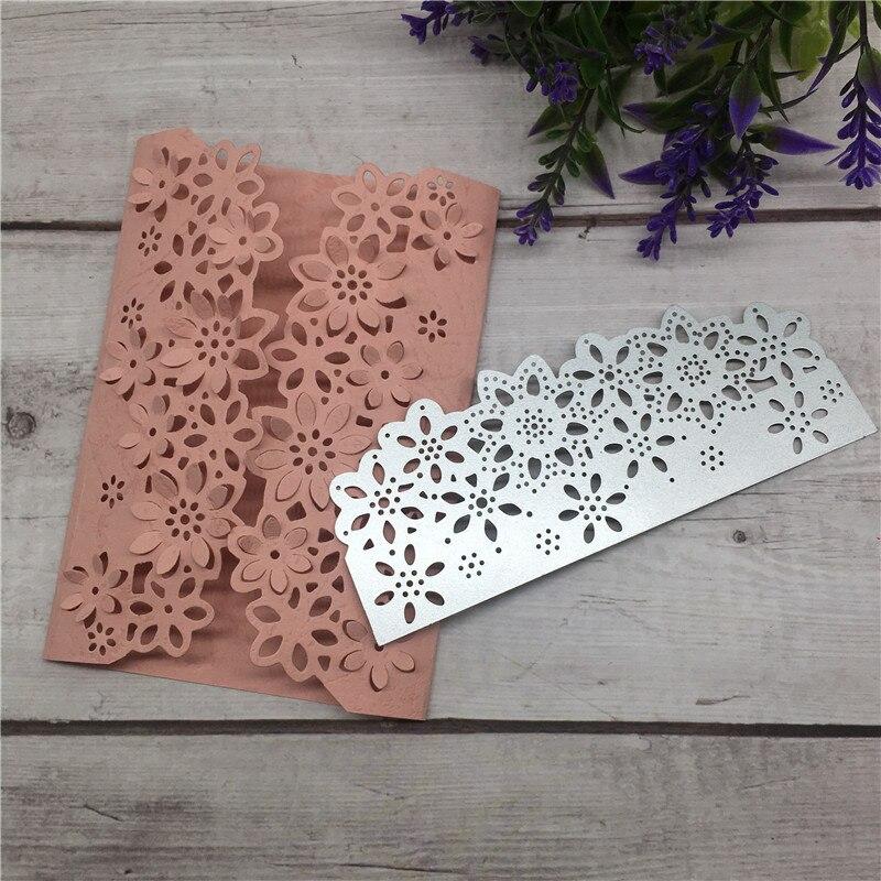 DIY Flower Floral Edge Border Cutting Dies Stencil Metal Cutting Dies Scrapbooking Card Paper Craft Embossing Folder Template