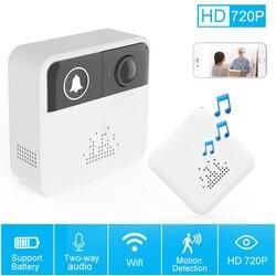 720P HD Wireless Door Bell Camera Battery Wi-Fi Doorbell Home Security Door Phone Two Way Audio IP Video Intercom APP Control