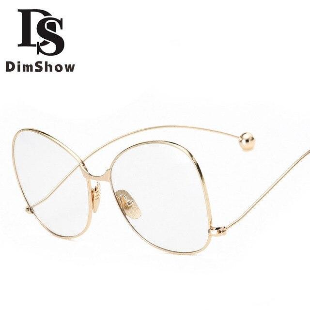 295e3bbf61d9 Dimshow Eyeglass Frames Retro Men Women clear Designer Eyewear Frame  Optical Eye Glasses Frame armacao para Oculos De Grau 2274