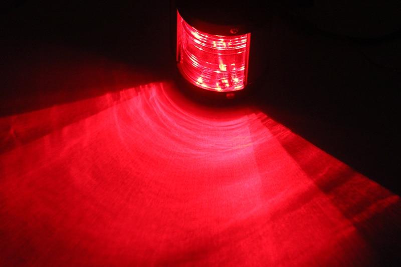 Image 5 - 12 V морской яхты светодиодный свет навигации лук парусный спорт сигнальная лампа красный/зеленый/белый Порты и разъёмы правый отличительный огонь кормовой фонарь-in Морское оборудование from Автомобили и мотоциклы