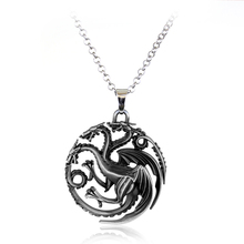 New Styles Game of Thrones Necklace Family Crest Casterly Rock House Stark Lannister Silver Metal Pendant Neckalce men jewelry(China)