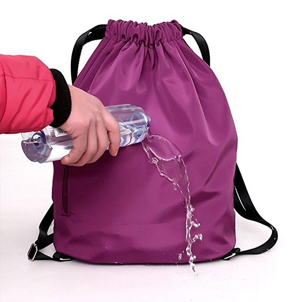 Drawstring Bag Festival Backpack Nylon For Gym Sports Fitness Travel Yoga Women Girls Student Bag Travel Backpack