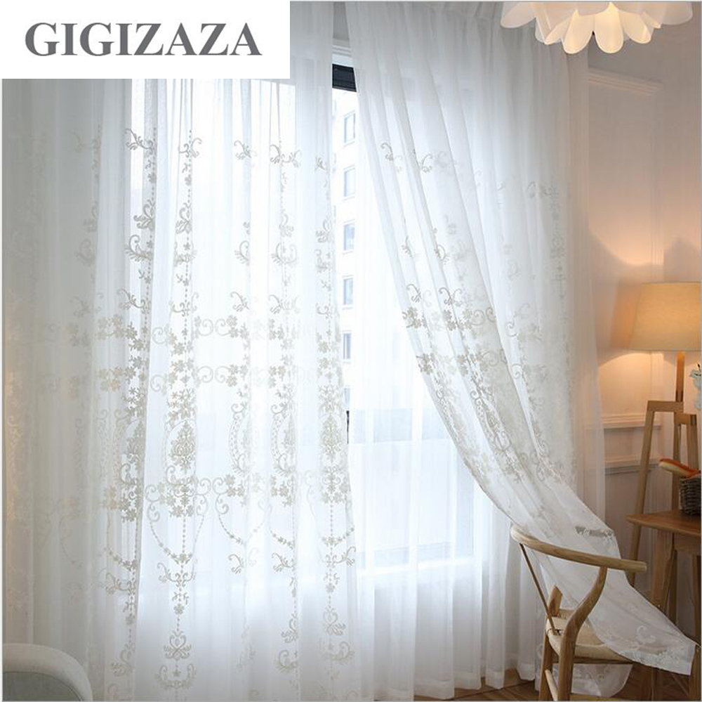 achetez en gros blanc rideaux en voile de coton en ligne. Black Bedroom Furniture Sets. Home Design Ideas