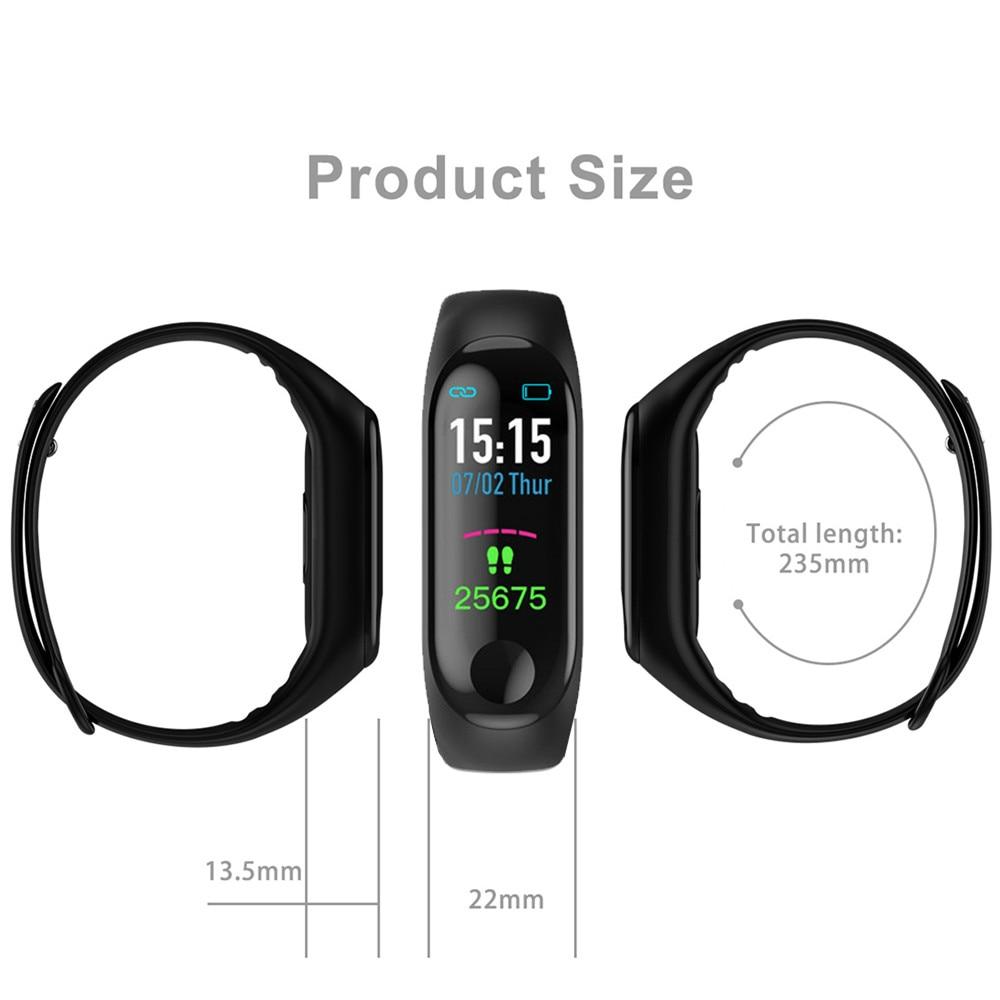 2019 New Women Sport Waterproof Smartwatch Blood Pressure Heart Rate Monitor Smart Watch Men Fitness Tracker Pedometer Watch M3