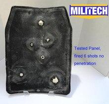 10×12 pouces Ultra Léger UHMWPE pare-balles Balistiques À Dos Panneau/Bulletproof Sac D'école Inserts à NIJ IIIA Niveau
