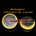 Free shipping LIR2477 3.6V With Solder Pins Recycling use Lithium Button Battery