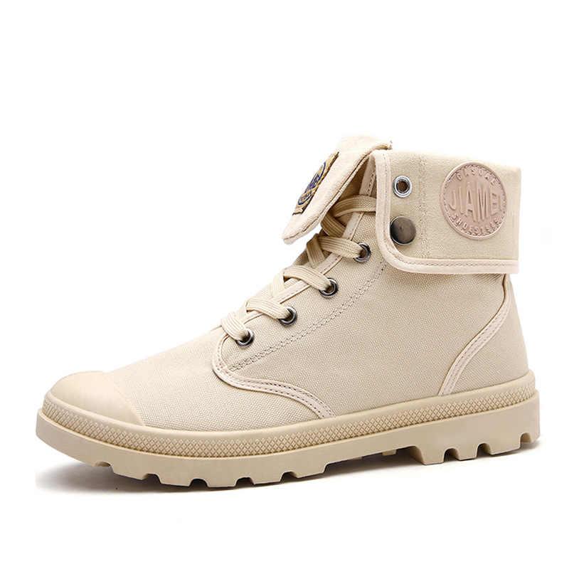 Мужская парусиновая обувь с высоким берцем военные тактические сапоги уличная Армейская Обувь для путешествий ботинки серого и черного цвета