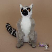 Simulation Animals Plush Children'S Gift Toys Ring Tailed Lemur Doll Stuffed Toy Store