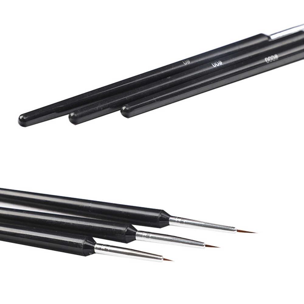 3 unids/set juego de pinceles de Gel UV acrílico DIY con puntas 3D para pintura de revestimiento de uñas diseño de herramienta de la manicura