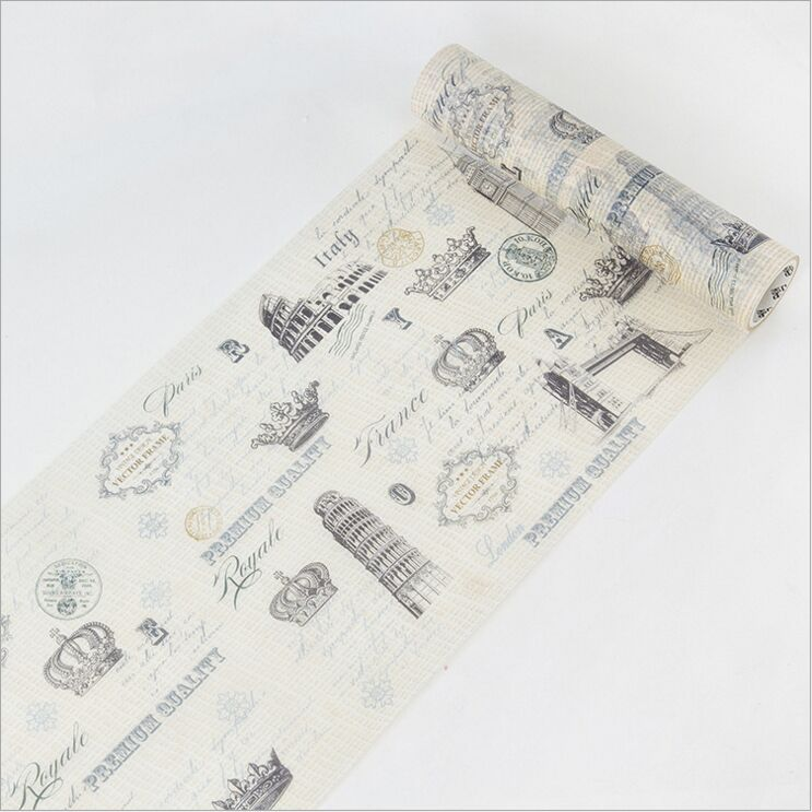 200mm Wide Vintage City Sculpture Holiday Travel Diary Decorative Washi Tape DIY Planner Scrapbooking Album Masking Tape Escolar