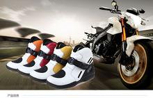 Мотоцикл из натуральной кожи Сапоги, Гонки Сапоги touring сапоги, улица велосипед загрузки 3 цвет размер 39-46