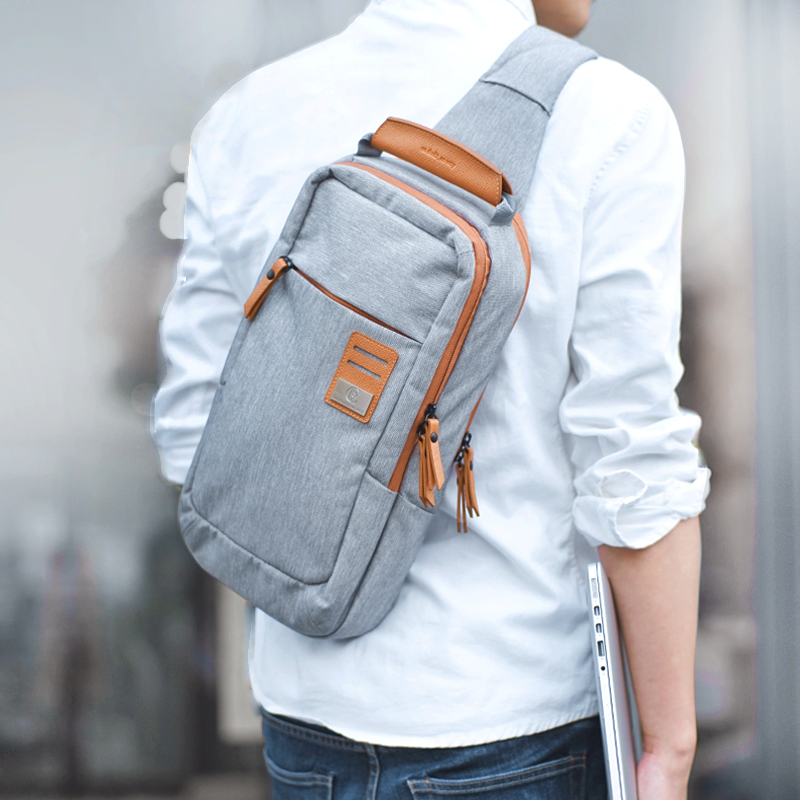 New arrived mens business bag Canvas men messenger bags Casual crossbody bags chest pack Large Capacity Travel bag