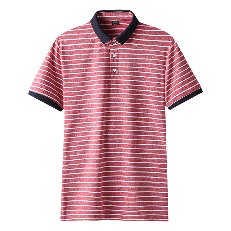2Color Summer Cotton Polos Men 2019 New Short Sleeve Casual Korean Style Striped Male Polo Shirts Breathable MuLS Brand Clothing 1