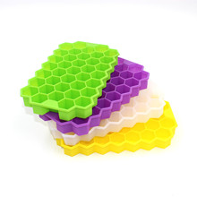 Tray-Mold Ice-Cube-Tray Storage-Containers Honeycomb-Shape 37 Cubes Silicone