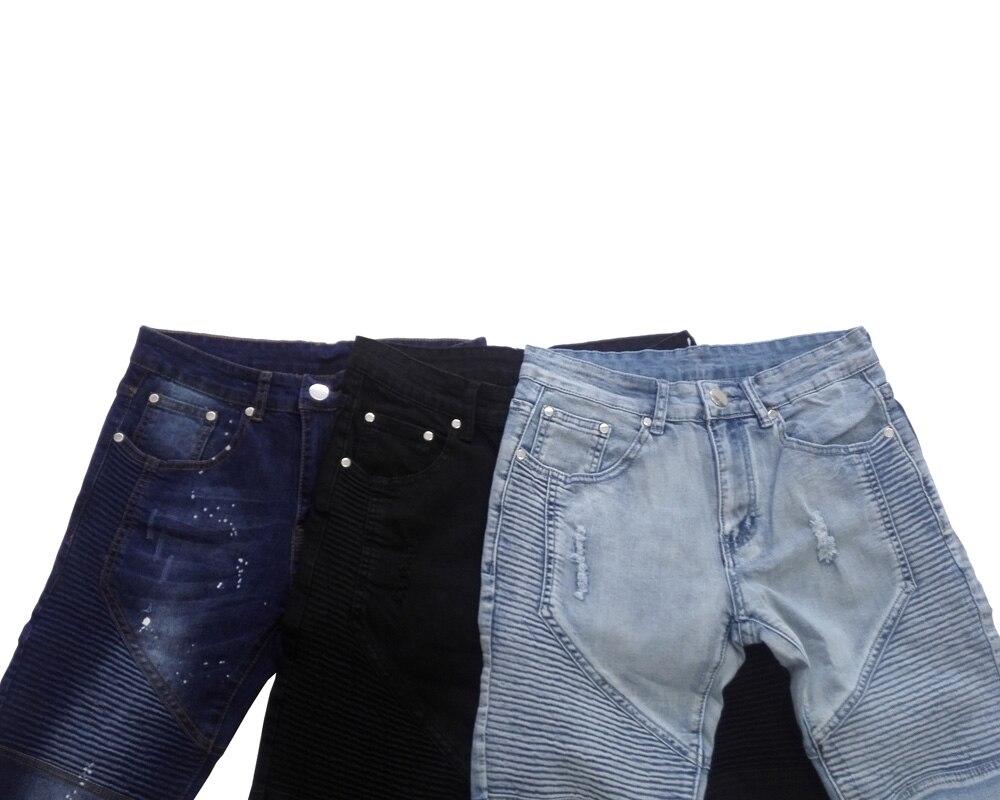 Image 5 - Męskie jeansy Runway Slim Racer jeansy dla motocyklistów moda Hiphop obcisłe dżinsy rurki dla mężczyzn H0292jean jacketjeans highjeans look -