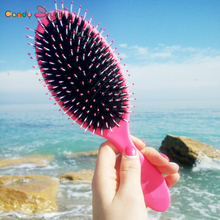 Natural Boar Bristle Hairbrush with Nylon Women Wet Hair brush Barber Scalp Massage Comb for Hair