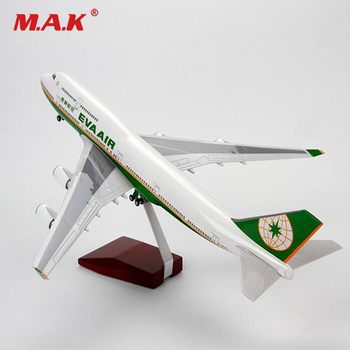 цена на For Collection 1/150 Scale Airplane Boeing B747 Model Airlines Plane Model Aircraft with Stand Sound & Light Model Kid Gift
