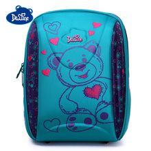 Delune 2019 Bear Pattern School Bags For Girls Boys Cartoon Backpacks Children Orthopedic Backpack New Mochila Infantil Grade 3