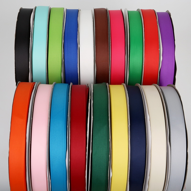 5Yards/Roll Grosgrain Satin Ribbons for Wedding Christmas Party Decorations DIY Bow Craft Ribbons Card Gifts Wrapping Supplies