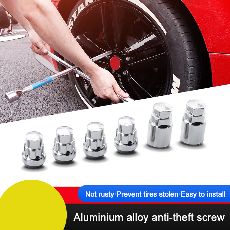QHCP Aluminium Alloy Wheel Locks Lug Nuts Car styling 4 Nuts 2Keys Special For Ford Mustang