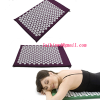 2015 Arrival Back Body Massage Relieve Stress Tension Pain Yoga Mat For Acupressure Massage Relaxation Freeshiping