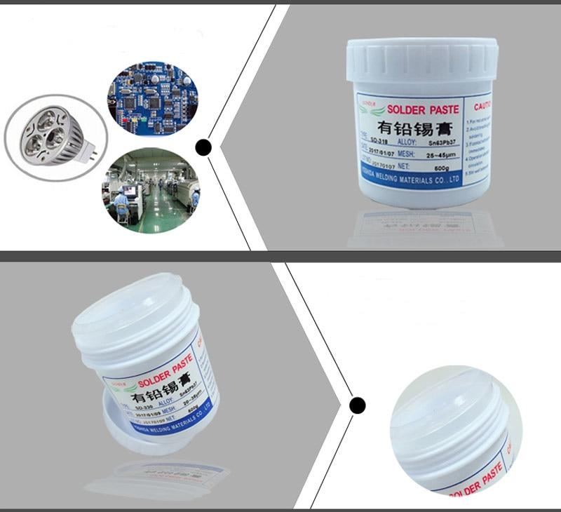 Lead LED Solder SMT Temperature Low Flux Clean BGA SMT 500g Paste Solder Sn63Pb37 No Bearing