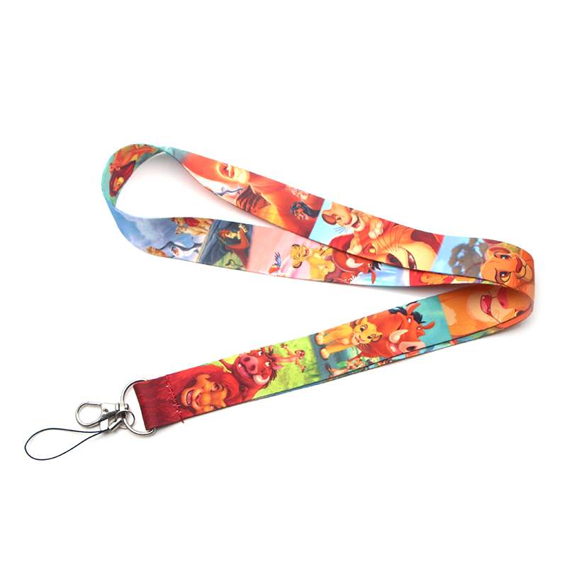 Flyingbee The Lion King Keychain Lanyard Badge Lanyards Mobile Phone Rope Keyring Key Lanyard Neck Strap Accessories X0125